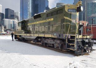 CN 4803 in winter. Support the Toronto Railway Museum.