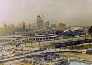 Colourized image of the Roundhouse in June 1930.
